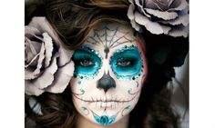 Halloween google and rouge on pinterest - Maquillage squelette mexicain ...
