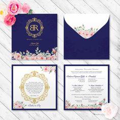 Blue Wedding Invitation  #invitationdesign #invitation #weddinginvitation #schellialion #wedding #weddingcard