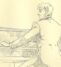 Leonard Bernstein   Autographed Original Art