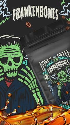 IT'S ALIVE! ☠️ 🧪 Frankenbones is here to delight your tastebuds in ways that science never thought possible. ☕️ ✅ 100% Arabica Beans ✅ Roasted to a Perfect Medium ✅ Infused with Chocolate Hazelnut Flavor
