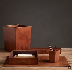 Father's Day Gifts - masculine desk accessories, A Home Office For The Tailored Man