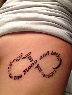 I love you to the moon and back infinity tattoo - 45 Infinity Tattoo Ideas  <3 !