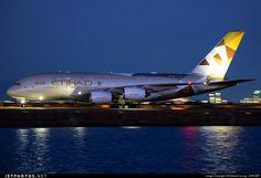Night Flight - Etihad A380