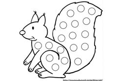 Early Childhood Activities, Activities For 2 Year Olds, Gross Motor Activities, Cool Coloring Pages, Animal Coloring Pages, Coloring For Kids, Finger Painting, Dot Painting, Squirrel Coloring Page