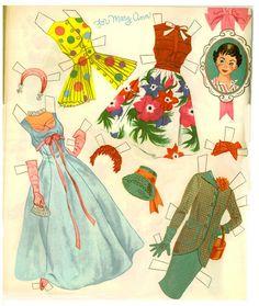 Mary Ann, Mary Lou, Mary Jane 1959 set by Hilda Miloche publisher Whitman - Nena bonecas de papel - Picasa Web Albums