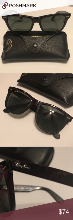 Ray-Ban Original Wayfarer Classics Model code: RB2140 902/51 50-22 Ray-Ban Original Wayfarer Classics are the most recognizable style in the history of sunglasses As an iconic style of sunglasses, Original Wayfarer Classics always make a statement. Choose a classic pair of black-framed Wayfarer sunglasses from a variety of lens treatments including crystal green, crystal grey gradient, G-15 polarized and more.  Frame material: AcetateFrame color: Tortoise Lenses: Light Brown Gradient Square…