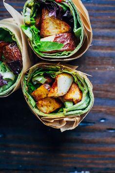 My Favorite Vegan Wrap | Well and Full | #vegan #wrap