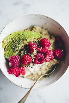 I knew I wasn't crazy. Salted oats with avocado! This mornings brunch...