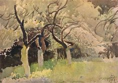 Orchard, Leon Wyczolkowski, polish painter