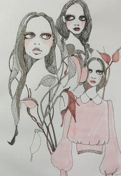 Bora Aksu Illustration SS17 pink story Part 1