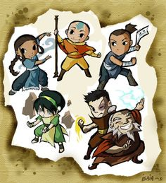 *i love these so much I can't stand it! Team Avatar!*