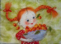 Шерстяная акварель НЕ ВАЛЯНИЕ! Екатерины Буянковой - создаем картину по мотивам работ В.Кирдий! - Ярмарка Мастеров - ручная работа, handmade