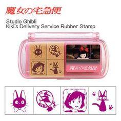 Studio Ghibli Kiki's Delivery Service Rubber Stamp Set【Stationery】【cat】