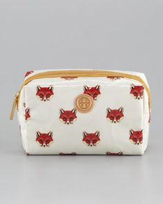 Tory Burch Fox Print - would make a cute bag in which to take home toiletries from our spa package