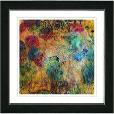 """Orange Reverie"" by Zhee Singer Framed Painting Print"