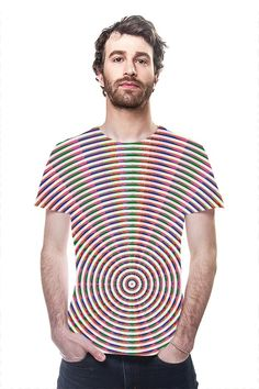CHAKRA Wheel Rainbow Graphic Fashion Couture Lines Couture Fashion, Fashion Art, Chakra, Original Art, Rainbow, Printed, Clothing, Mens Tops, T Shirt