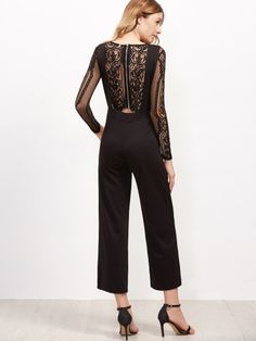 ff9805e7e36 Shop Black V Neck Straight Leg Overall Pants online. SheIn offers Black V Neck  Straight Leg Overall Pants   more to fit your fashionable needs.