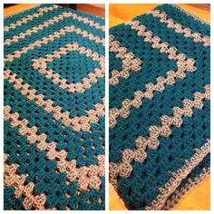 Crochet Granny square blanket for mom