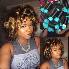 Perm rods on natural hair are a great way to achieve long lasting curls. Looking to freshen up your natural curls?Take a look at these gorgeous perm rods styles Natural Curls, Natural Hair Care, Natural Hair Styles, Natural Makeup, Roller Set Natural Hair, Roller Set Hairstyles, Kid Hairstyles, Big Curls, Soft Curls