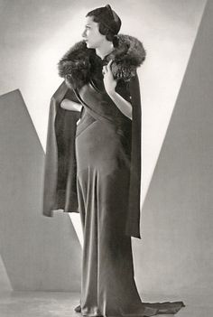 A 1930s Mainbocher gown.