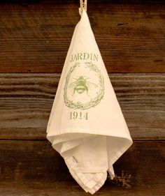 Jardin Honeybee Farmhouse Decor Flour Sack By OldUrbanFarmhouse