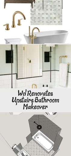 W&D Renovates: Upstairs Bathroom Makeover / Wit & Delight #tinybathroomScandinavian #tinybathroomFlooring #tinybathroomUnderStairs #tinybathroomVideos #tinybathroom2m2