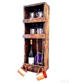 Wine Barrel Liquor Cabinet (usa Flag)