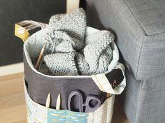 DIY-Anleitung: Strick-Utensilo mit Außentasche nähen via DaWanda.com