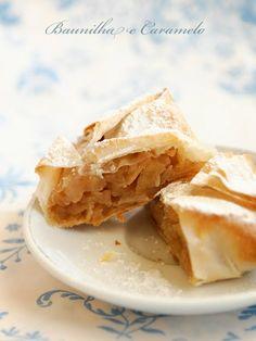 Baunilha e Caramelo: Pastéis de Massa Filo com Maçã e Canela