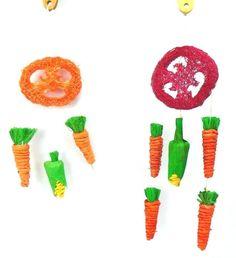 Veggie Mobile Dream Catcher 100% Natural Chew Nibble Toy Rabbits Guinea Pigs  #AncolHappyPet