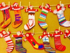Jouluaskarteluja - www.opeope.fi Preschool Christmas, Noel Christmas, Christmas Activities, Christmas Stockings, Craft Activities For Kids, Crafts For Kids, Countdown, Toddler Art Projects, Art N Craft