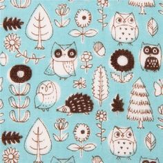 http://www.kawaiifabric.com/en/p6728-light-blue-owl-forest-double-gauze-fabric-Kokka-Japan.html