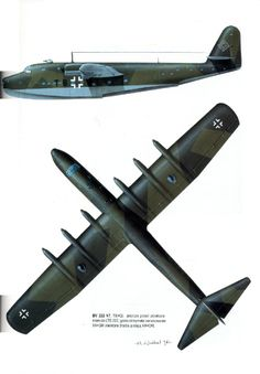The Blohm und Voss BV 222 Wiking (Viking) was a large German flying boat of World War II. The BV 222 Wiking six-engined flyi. Amphibious Aircraft, Ww2 Aircraft, Military Aircraft, Luftwaffe, Voss, Focke Wulf, Aircraft Painting, Flying Boat, Ww2 Planes
