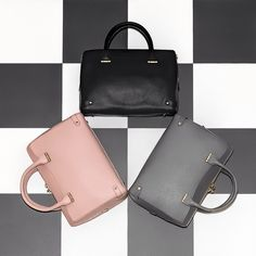 The 'Rosamund' #hero #bag is a #style #staple and #LKBennett #Signature piece. Now available in marshmallow #pink for the #spring season. Which is your #favourite #colour?