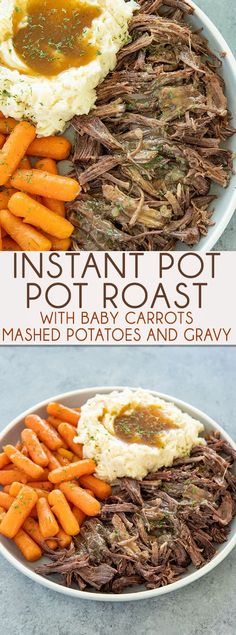 tant Pot Pot Roast makes having a tender and juicy roast so easy!  Mashed potatoes, carrots, and a mouthwatering gravy are made in the very same pot!