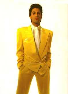 One of the few people in this world that can pull off a yellow suit...