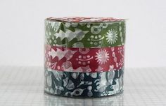 Fall Leaves Squirrel Paper Tape Fall Decor Japanese Washi Tapes - Set of 3