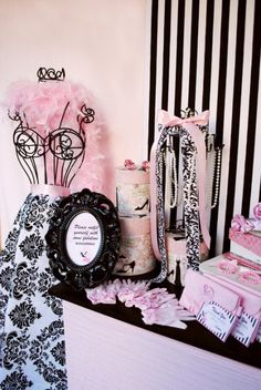 Bridal or bachelorette party. love the free standing form as decor. frame is cute. colors are nice. maybe less baby pink