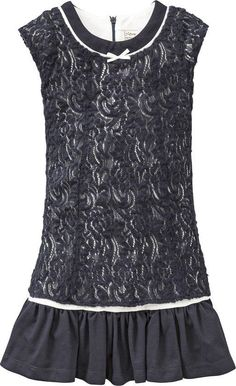 Jottum NEW Winter dark blue lace dress with tricot Sweety 152 12 Y