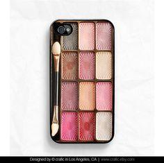 Eyeshadow Makeup Set iPhone Case - iPhone 4 case iPhone 4s case. $19.99, via Etsy.