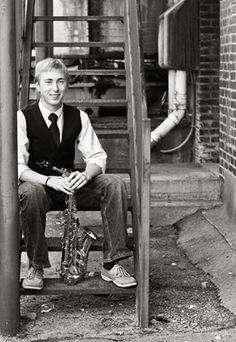 boy with saxophone #senior #boy #saxophone