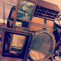 """Some """"smalls"""" I scored at the flea market today.  #upcycle #repurpose #diy #diydecor #dreamjob #diyfurniture #diyupcycle #furnituremakeover #furnitureflipper #restore #distressed #distressedfurniture #antiques #create #imagine #inspire #invent #beforeandafter #thriftstorefinds #junkyardfinds #fleamarketfinds #wood #girlswithpowertools #etsy #etsyseller #repupose #restore #makeovermonday by revivify_"""