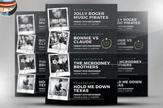 Indie Club Line Up Flyer Template @creativework247
