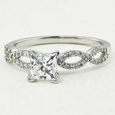18K White Gold Infinity Diamond Ring