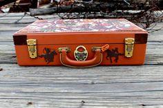 Cowgirl Boot Vintage Suitcase $42.95 www.ruralhaze.com