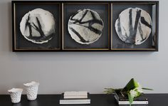 03.11.15. Hallway artwork at our clients sophisticated property; The Pears. th2designs ©