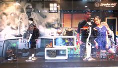window display # school of rock # theme #planet surf indonesia # by me
