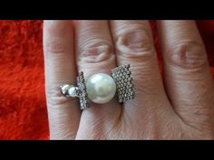 Rings N Things, Beaded Rings, Beading Tutorials, Bead Weaving, Tatting, Projects To Try, Jewelry Making, Dyi, Stud Earrings