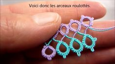 Roll tatting tutorial..... Frivolité : tuto du roulotté For more options & applications : http://lesfrivolitesdepandore.blogspot.in/2016/04/journee-internationale-de-la-frivolite.html