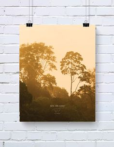 Save the Trees no. 2 poster - Save the planet series - 10% of profits go to WWF - size A3 (29,7 x 42 cm)